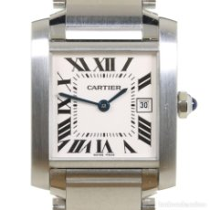 Relojes - Cartier: CARTIER TANK FRANCAISE REF 2485 ACERO. Lote 251835390