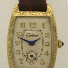 Relojes - Cartier: CARTIER VINTAGE PLAQUÉ ORO-MUJER.. Lote 253582945