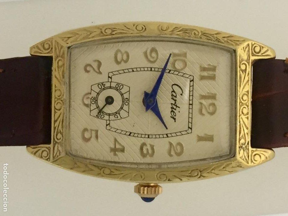 Relojes - Cartier: CARTIER VINTAGE PLAQUÉ ORO-MUJER. - Foto 4 - 253582945