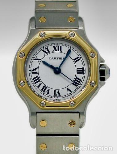 CARTIER SANTOS OCTOGON-ORO 18 KTS.ACERO-MUJER.COMO NUEVO. (Relojes - Relojes Actuales - Cartier)
