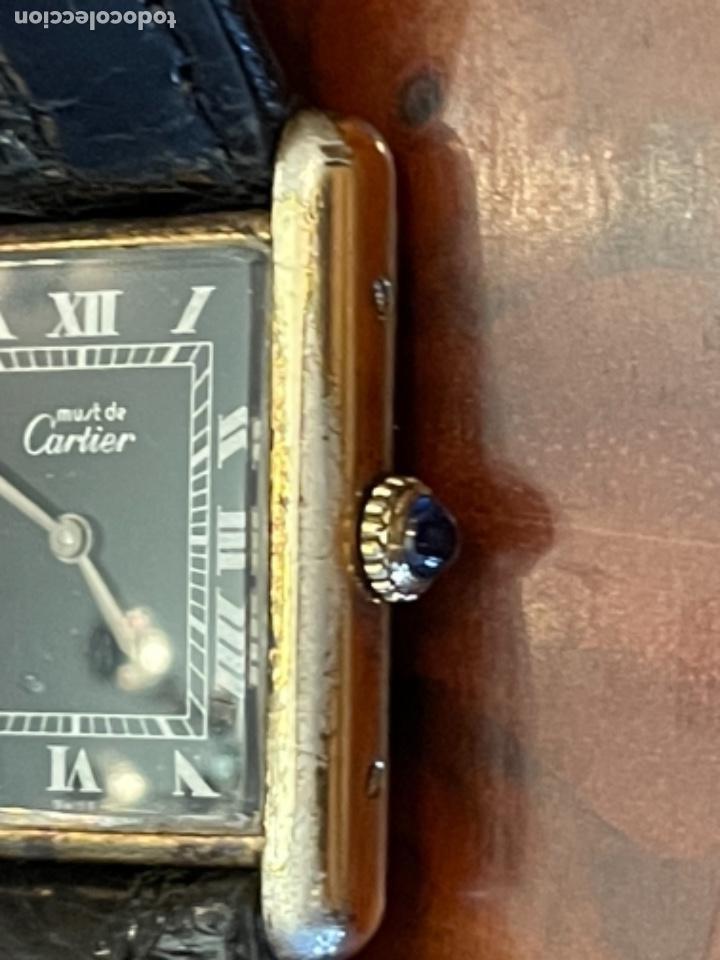 CARTIER TANK MUST DE SILVER 925 CON CAJA PLAQUE OR G 20M (Relojes - Relojes Actuales - Cartier)
