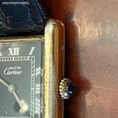 Relojes - Cartier: CARTIER TANK MUST DE SILVER 925 CON CAJA PLAQUE OR G 20M. Lote 260707620