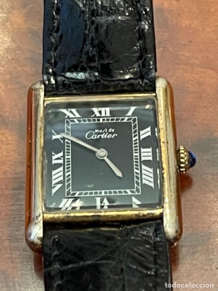 Relojes - Cartier: Cartier Tank Must de Silver 925 CON CAJA Plaque or G 20M - Foto 5 - 260707620
