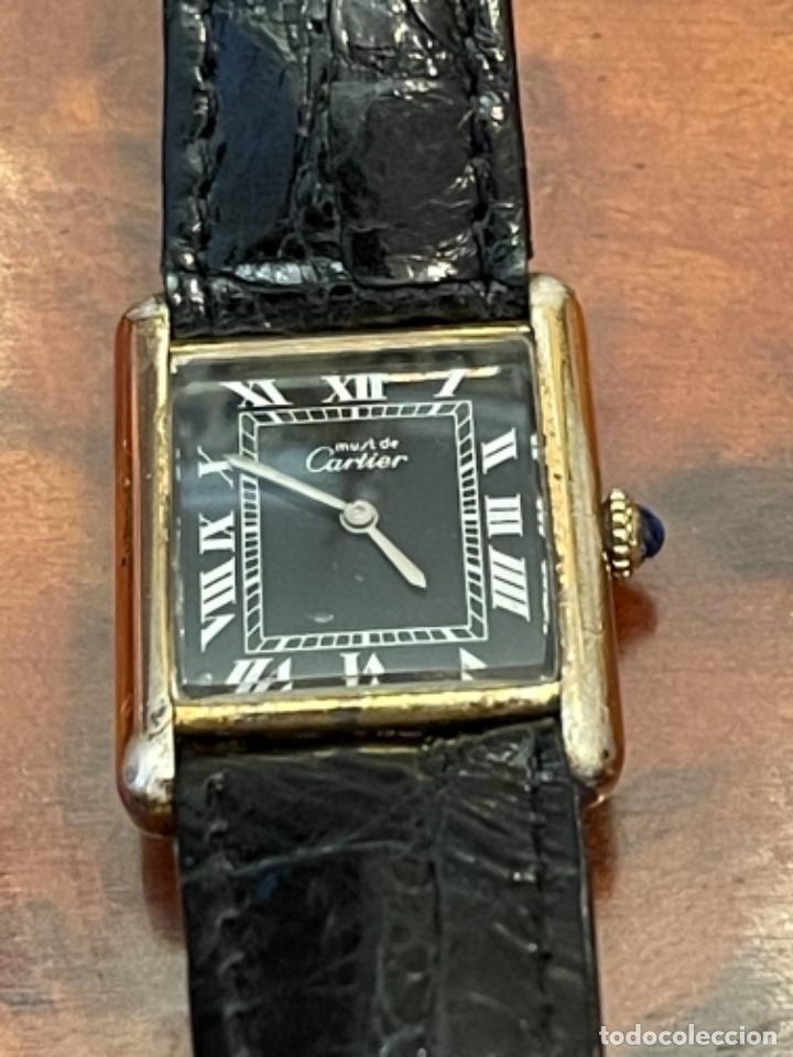 Relojes - Cartier: Cartier Tank Must de Silver 925 CON CAJA Plaque or G 20M - Foto 6 - 260707620