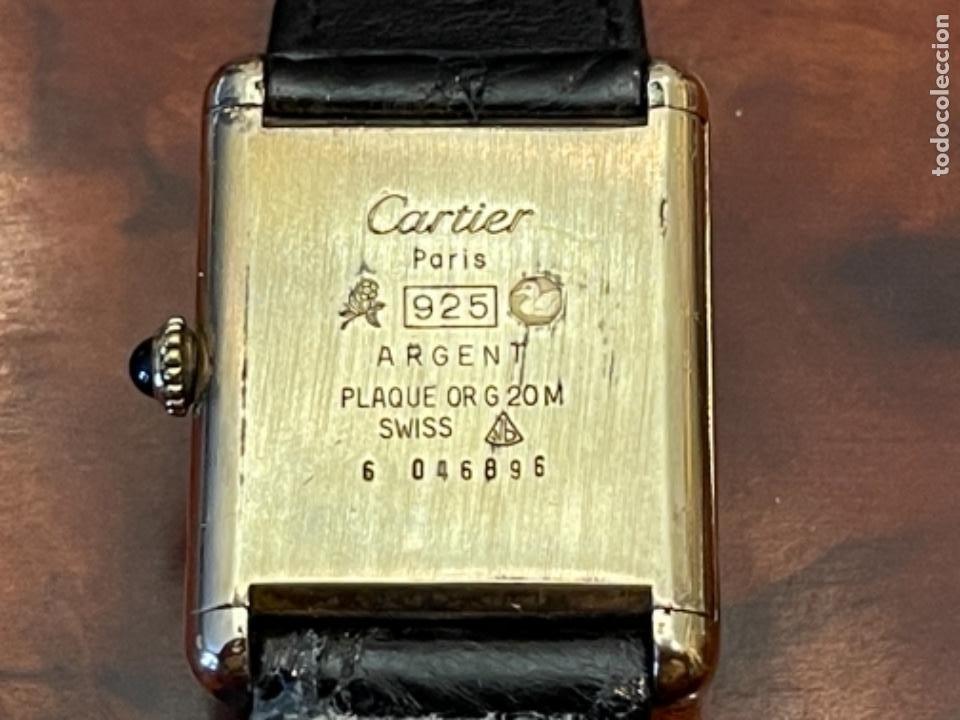 Relojes - Cartier: Cartier Tank Must de Silver 925 CON CAJA Plaque or G 20M - Foto 9 - 260707620