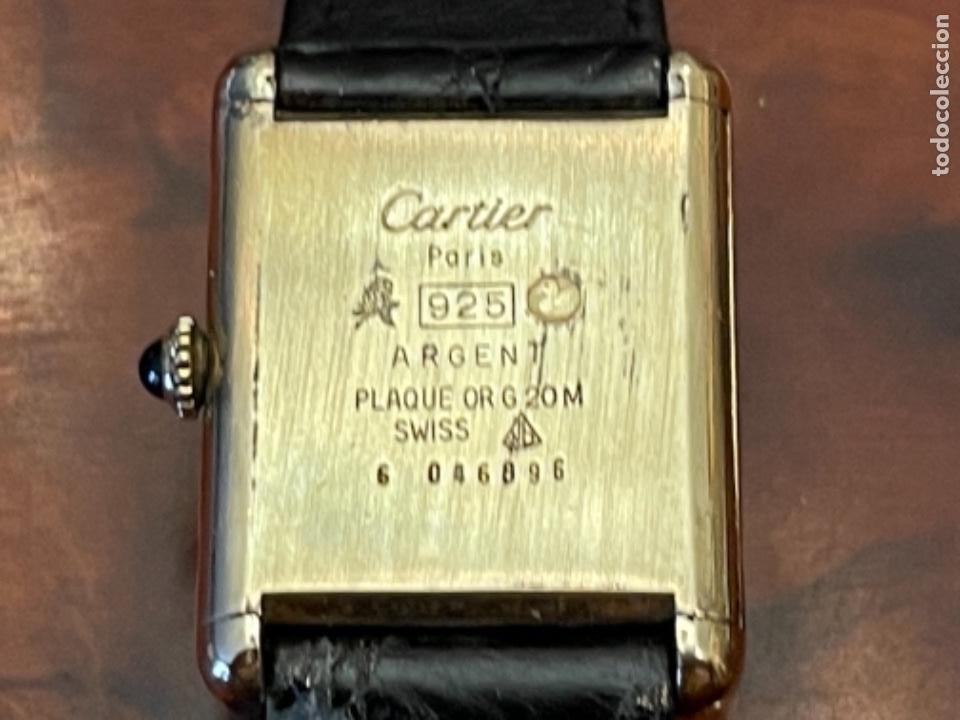 Relojes - Cartier: Cartier Tank Must de Silver 925 CON CAJA Plaque or G 20M - Foto 10 - 260707620