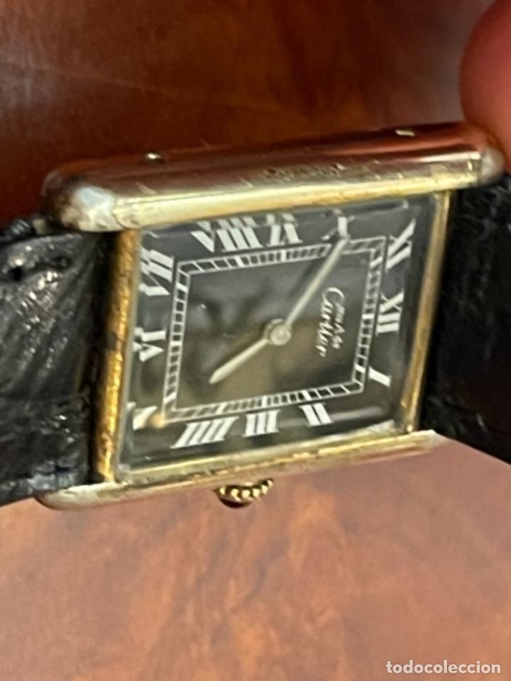 Relojes - Cartier: Cartier Tank Must de Silver 925 CON CAJA Plaque or G 20M - Foto 15 - 260707620