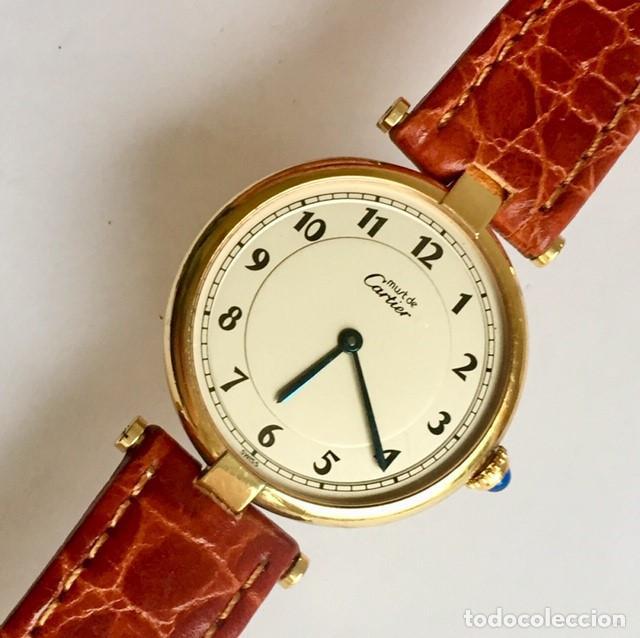 CARTIER MUST PLATA PLAQUÈ ORO 18 KTS.UNISEX. (Relojes - Relojes Actuales - Cartier)
