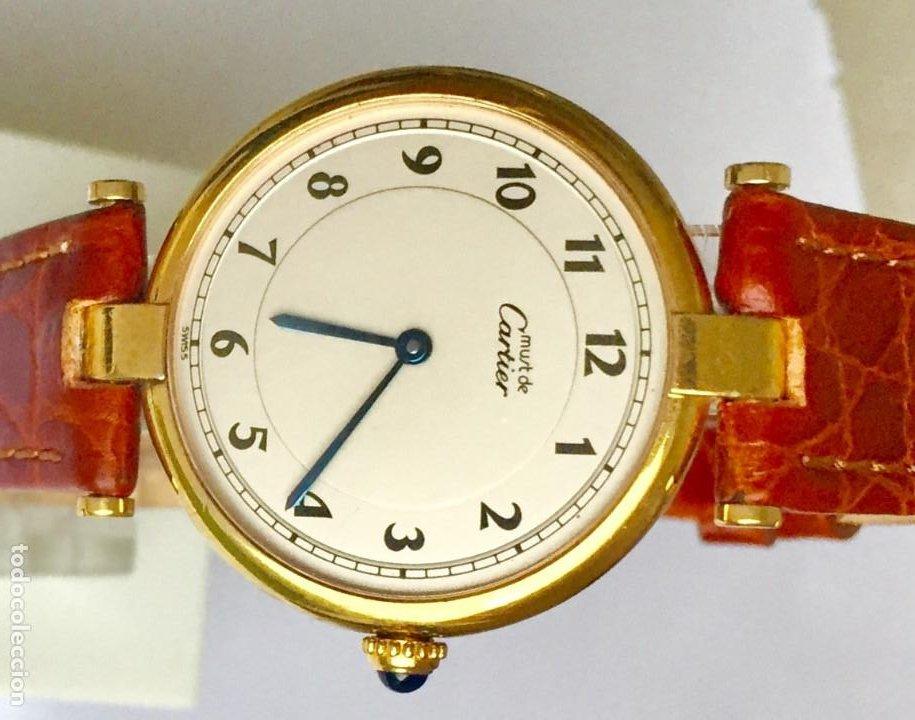 Relojes - Cartier: CARTIER MUST PLATA PLAQUÈ ORO 18 KTS.UNISEX. - Foto 2 - 183748660