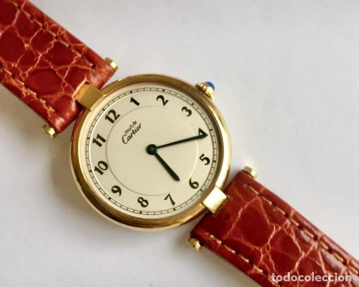 Relojes - Cartier: CARTIER MUST PLATA PLAQUÈ ORO 18 KTS.UNISEX. - Foto 3 - 183748660