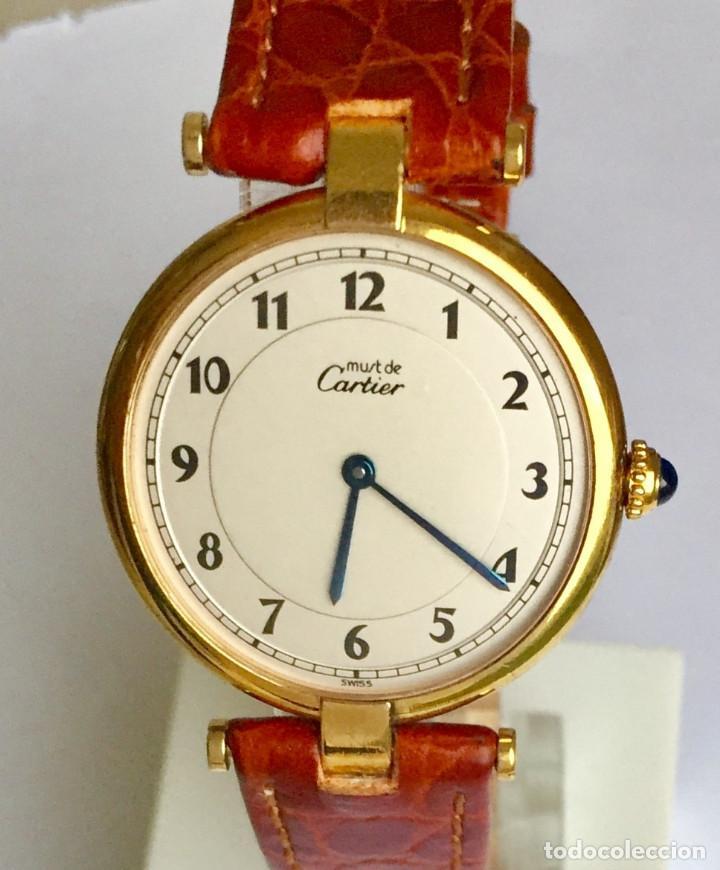 CARTIER MUST PLAQUÈ ORO 18KTS.¡¡COMO NUEVO!! (Relojes - Relojes Actuales - Cartier)