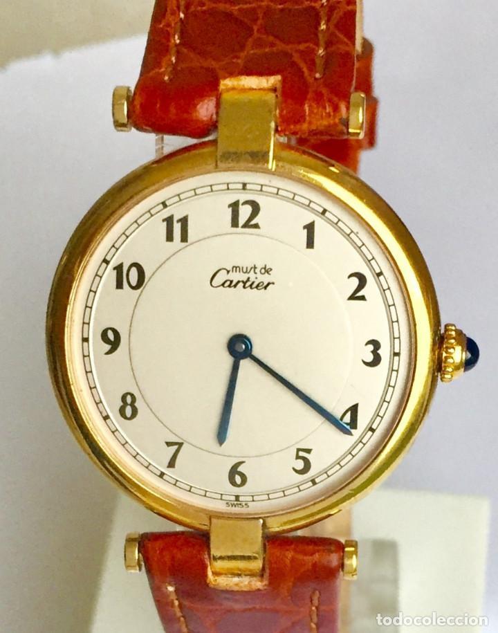 Relojes - Cartier: CARTIER MUST PLAQUÈ ORO 18KTS.¡¡COMO NUEVO!! - Foto 3 - 189602660