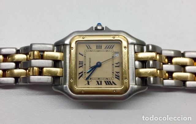 Relojes - Cartier: CARTIER PANTHERE DATE-ORO 18KT.ACERO-MUJER GRANDE ¡¡COMO NUEVO!! - Foto 3 - 61160363
