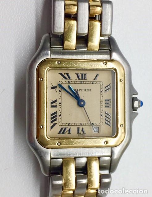 Relojes - Cartier: CARTIER PANTHERE DATE-ORO 18KT.ACERO-MUJER GRANDE ¡¡COMO NUEVO!! - Foto 2 - 61160363