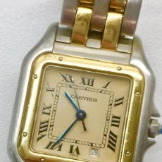 Relojes - Cartier: CARTIER PANTHERE DATE-ORO 18KT.ACERO-MUJER GRANDE ¡¡COMO NUEVO!!. Lote 61160363