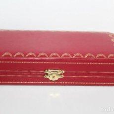 Relojes - Cartier: ESTUCHE O CAJA DE LUJO CARTIER EN PIEL COLOR ROJO - MODELO COST0046. Lote 270612923