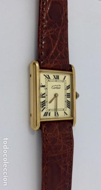 Relojes - Cartier: CARTIER TANK PLAQUÈ ORO 18KT ¡¡COMO NUEVO!! - Foto 4 - 151176046