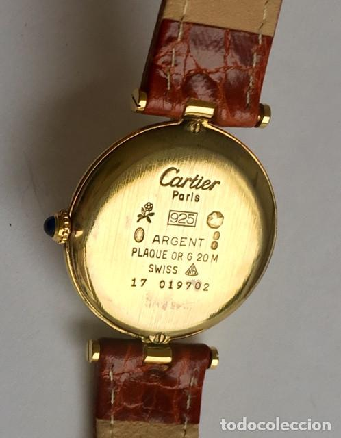 Relojes - Cartier: CARTIER MUST PLATA PLAQUÈ ORO 18 KTS.UNISEX. - Foto 4 - 183748660