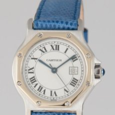 Relojes - Cartier: CARTIER SANTOS OCTAGON AUTOMATIQUE STEEL AND YELLOW GOLD 18K. Lote 274234098