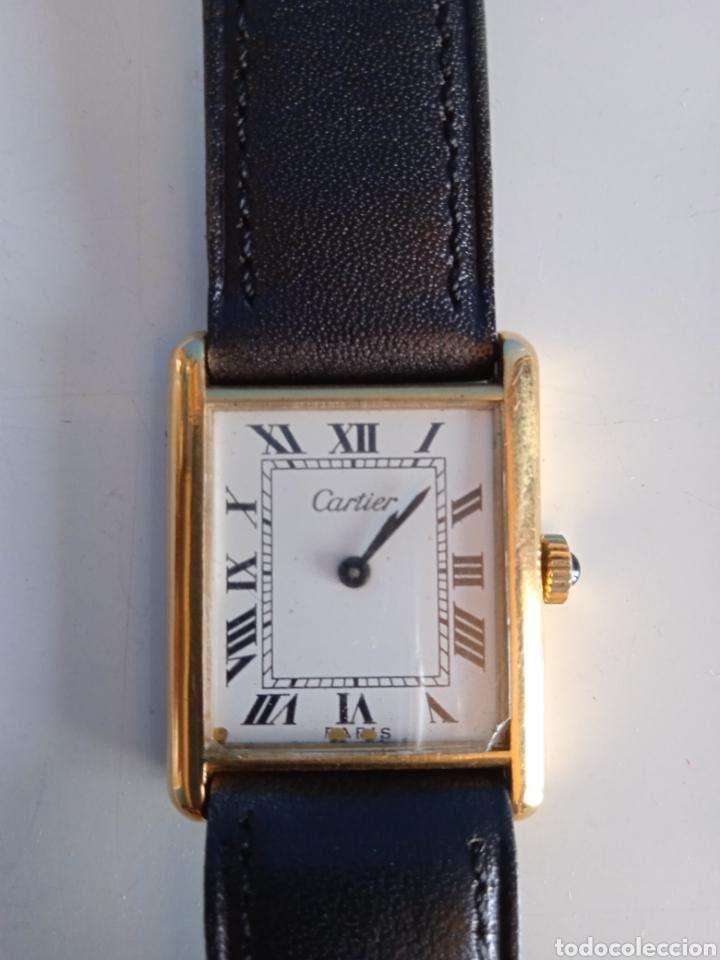 Relojes - Cartier: Reloj Cartier. Paris 925 Argent. Plaque or G 20. ( Funcionando). - Foto 2 - 275946438