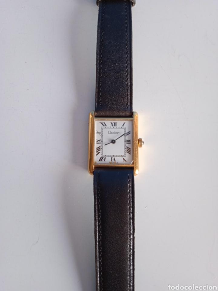 Relojes - Cartier: Reloj Cartier. Paris 925 Argent. Plaque or G 20. ( Funcionando). - Foto 3 - 275946438