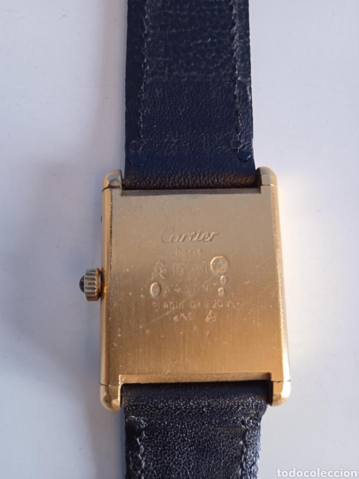 Relojes - Cartier: Reloj Cartier. Paris 925 Argent. Plaque or G 20. ( Funcionando). - Foto 4 - 275946438