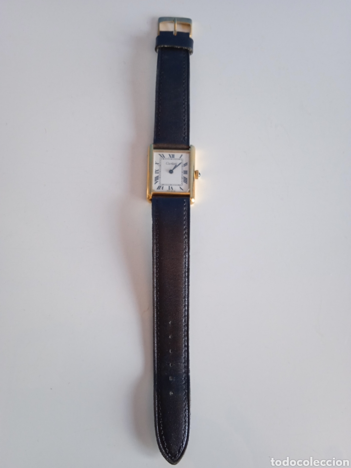 Relojes - Cartier: Reloj Cartier. Paris 925 Argent. Plaque or G 20. ( Funcionando). - Foto 8 - 275946438