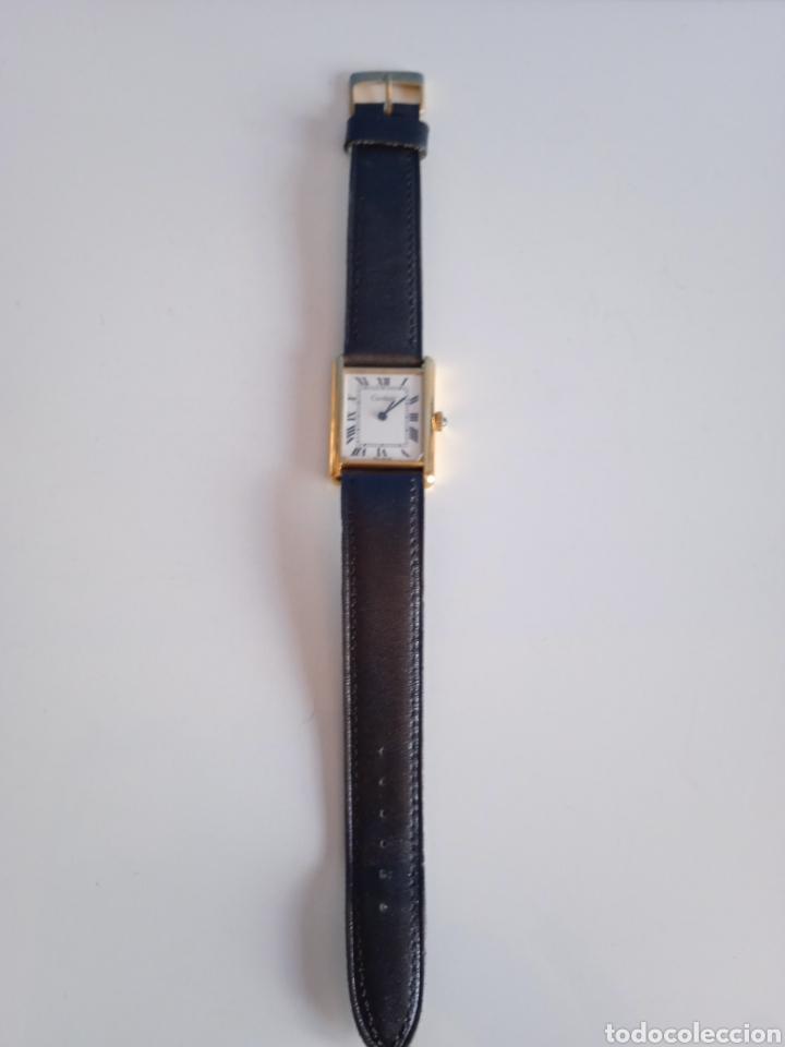 Relojes - Cartier: Reloj Cartier. Paris 925 Argent. Plaque or G 20. ( Funcionando). - Foto 13 - 275946438