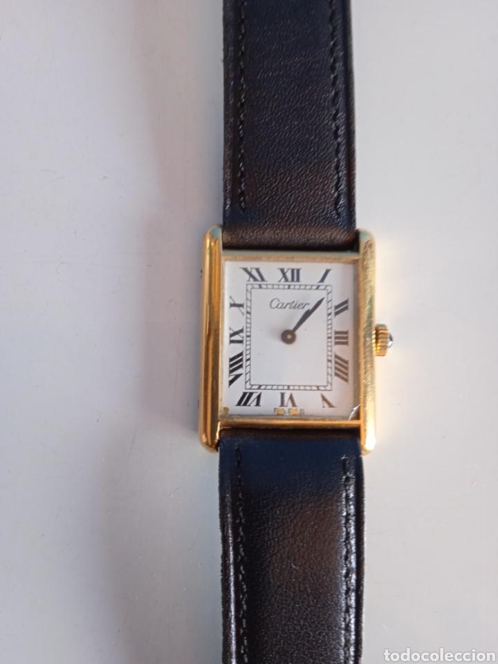RELOJ CARTIER. PARIS 925 ARGENT. PLAQUE OR G 20. ( FUNCIONANDO). (Relojes - Relojes Actuales - Cartier)