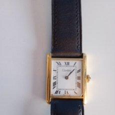 Relojes - Cartier: RELOJ CARTIER. PARIS 925 ARGENT. PLAQUE OR G 20. ( FUNCIONANDO).. Lote 275946438