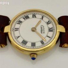 Relojes - Cartier: CARTIER MUST RONDE-PLAQUÊ ORO-MUJER.. Lote 278423103