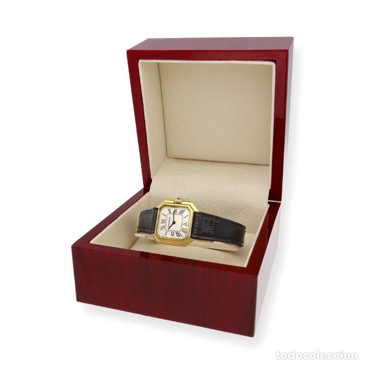 Relojes - Cartier: Reloj Cartier de Oro de Ley de Mujer y Pulsera de Cuero Negro - Foto 3 - 285114058