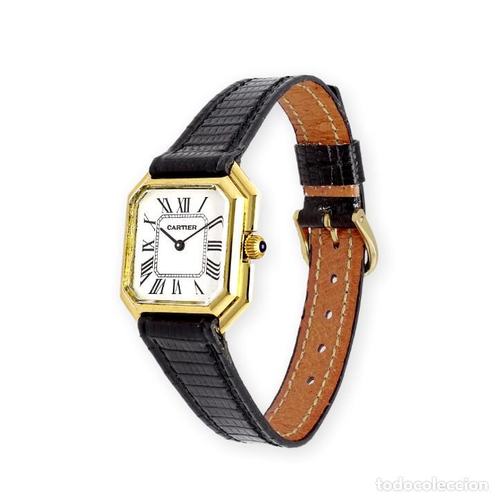 Relojes - Cartier: Reloj Cartier de Oro de Ley de Mujer y Pulsera de Cuero Negro - Foto 4 - 285114058