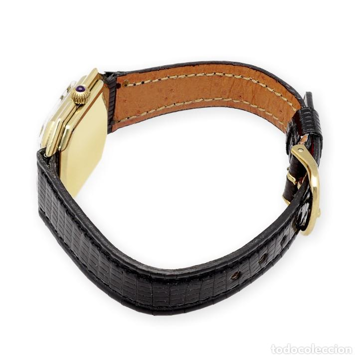 Relojes - Cartier: Reloj Cartier de Oro de Ley de Mujer y Pulsera de Cuero Negro - Foto 6 - 285114058