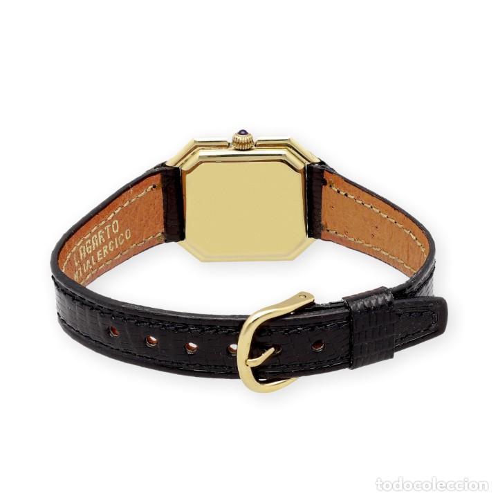 Relojes - Cartier: Reloj Cartier de Oro de Ley de Mujer y Pulsera de Cuero Negro - Foto 7 - 285114058