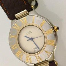 Relojes - Cartier: CARTIER MUST RONDE 21 HOMBRE.COMO NUEVO.. Lote 286754548