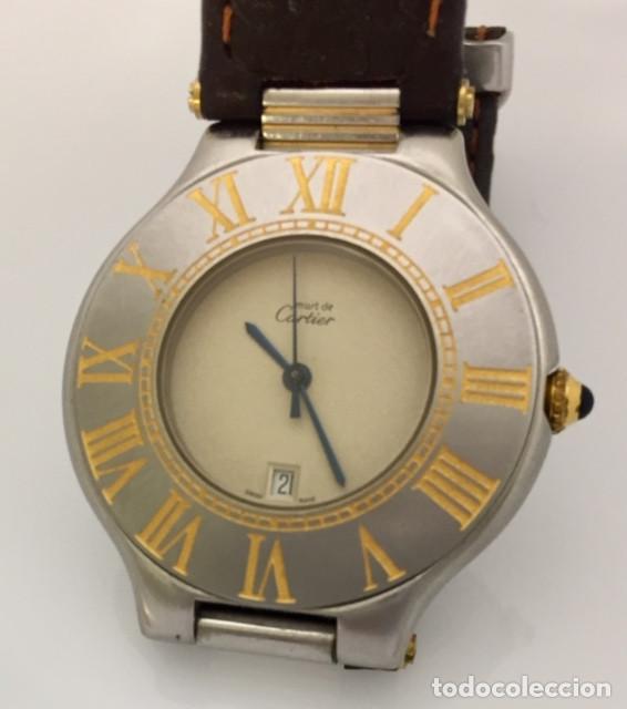 Relojes - Cartier: CARTIER MUST RONDE 21 HOMBRE.COMO NUEVO. - Foto 2 - 286754548