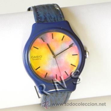 RELOJ DE PULSERA AGUJAS CASIO - ALEGRE DISEÑO - FUNCIONA - DEL ESTILO RELOJES SWATCH - MÁQUINA (Relojes - Relojes Actuales - Casio)