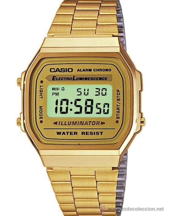 31828942e268 reloj casio dorado mod. a-168wg.nuevo de tienda - Comprar Relojes ...
