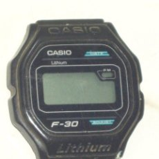 Relojes - Casio: RELOJ CASIO F-30 TAPA DE SILICONA ORIGINAL,COLECCIONISTAS RETRO.FUNCIONA.. Lote 44306764