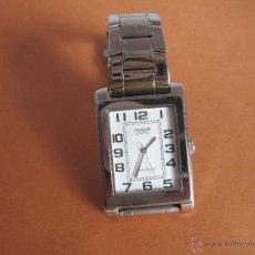 Relojes - Casio: RELOJ-CASIO QUARTZ-ACERO-ESFERA BLANCA-RECTANGULAR-CABALLERO-JAPAN M-BUEN ESTADO-.. Lote 44405680