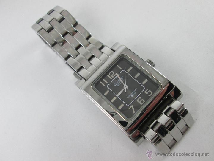 Japan Estado Quartz Acero Buen Mm Reloj Rectangular 43x35 M Negra Esfera Caballero Casio Nt QxrWEdCBeo