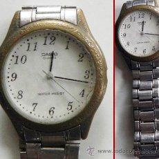 Relojes - Casio: RELOJ DE PULSERA CASIO 1330 MPT 1128 - CON ARMIS DE ACERO - PARA REPARAR O PIEZAS - CORREA ESTÁ BIEN. Lote 46110490