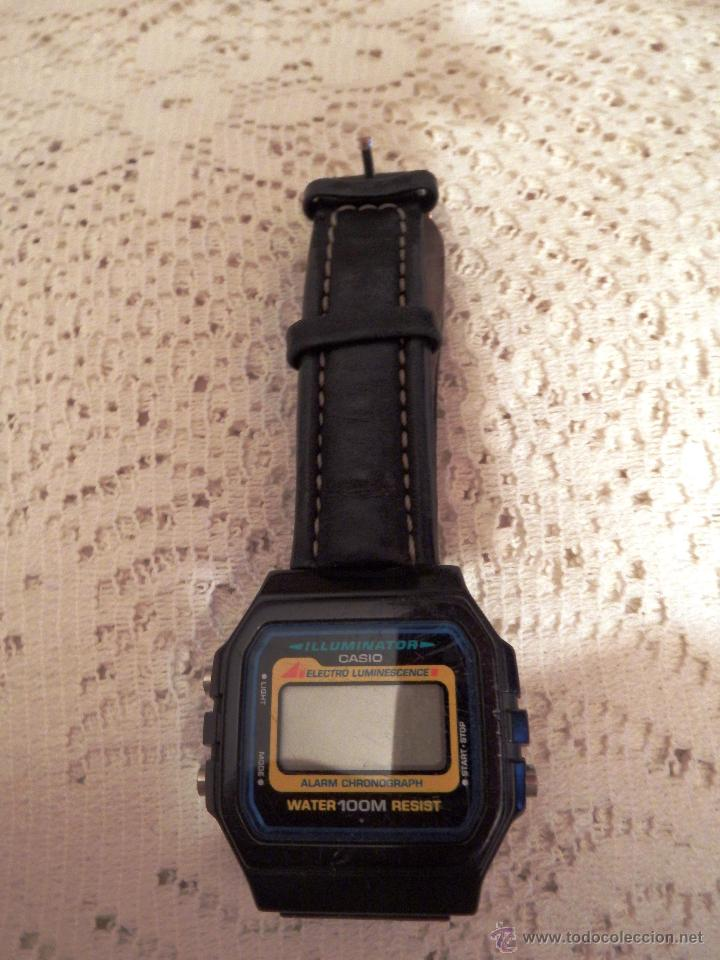 Relojes - Casio: CASIO DIGITAL MADE IN KOREA - CORREA PIEL - WR 100M - LUZ - CRONO - ALARMA - LUMINISCENTE - Foto 1 - 50939695