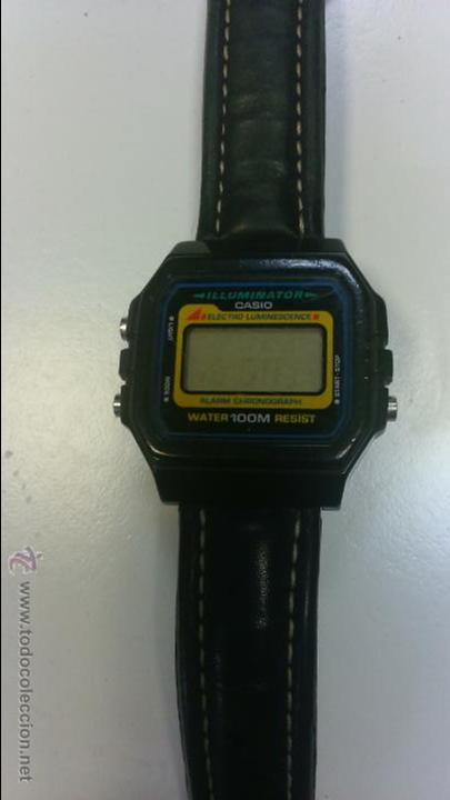 Relojes - Casio: CASIO DIGITAL MADE IN KOREA - CORREA PIEL - WR 100M - LUZ - CRONO - ALARMA - LUMINISCENTE - Foto 4 - 50939695