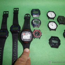 Relojes - Casio: RELOJ CASIO LOTE LRW-45 W-210 LRW-45 W-59 ILUMINATOR FUNCIONANDO VINTAGE COLECCION. Lote 54592035