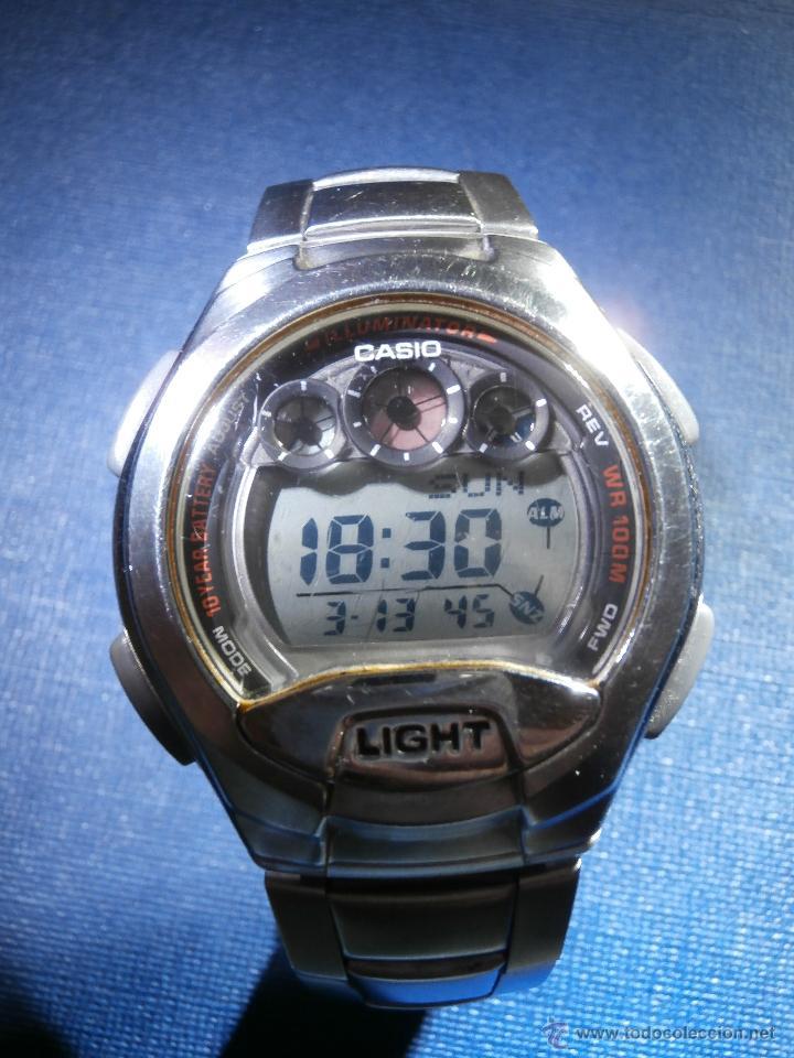 RELOJ - CASIO W-755 - 100 M. - CAJA Y CORREA EN ACERO INOXIDABLE - (Relojes - Relojes Actuales - Casio)