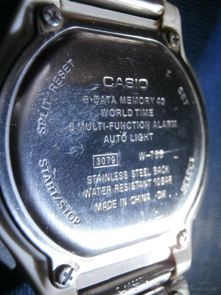 Relojes - Casio: Reloj - Casio W-755 - 100 m. - Caja y correa en acero Inoxidable - - Foto 3 - 167705809