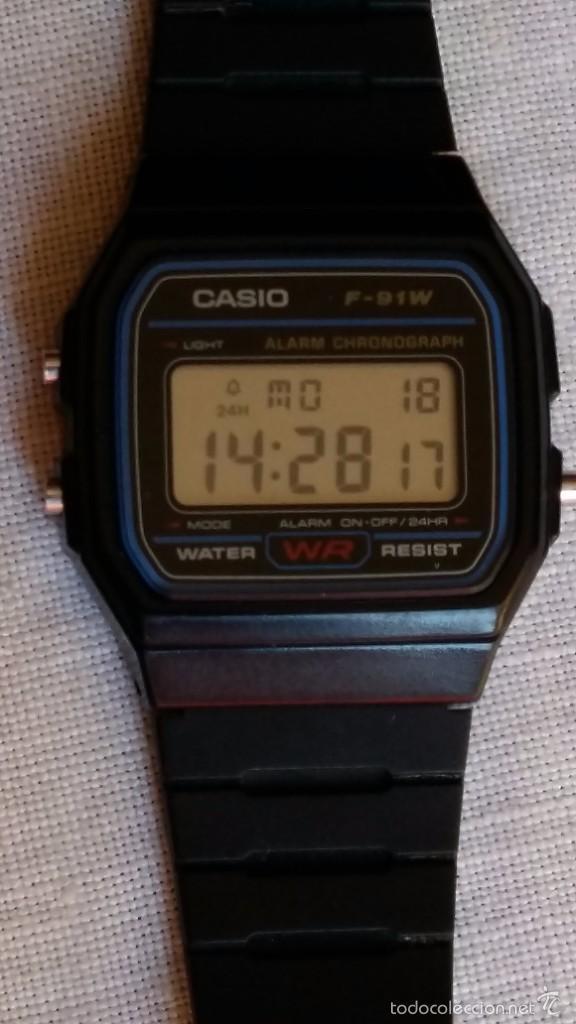3476f620a10 Relojes - Casio  RELOJ CASIO MODELO 593 REF F- 91W COMO NUEVO FUNCIONA  PERFECTO