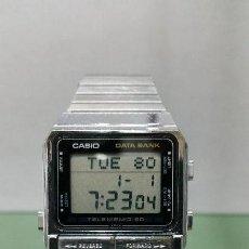 Relojes - Casio: RELOJ DE CABALLERO CASIO VINTAGE DIGITAL DATA BANK CON CORREA ORIGINAL. Lote 56903901